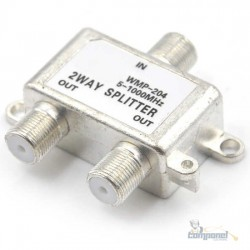 Divisor 1 entrada 2 saidas Sátelite 5 mhz á 1000mhz